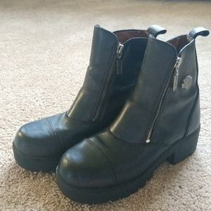 Harley davidson riding boots sz 7.5 great cond.